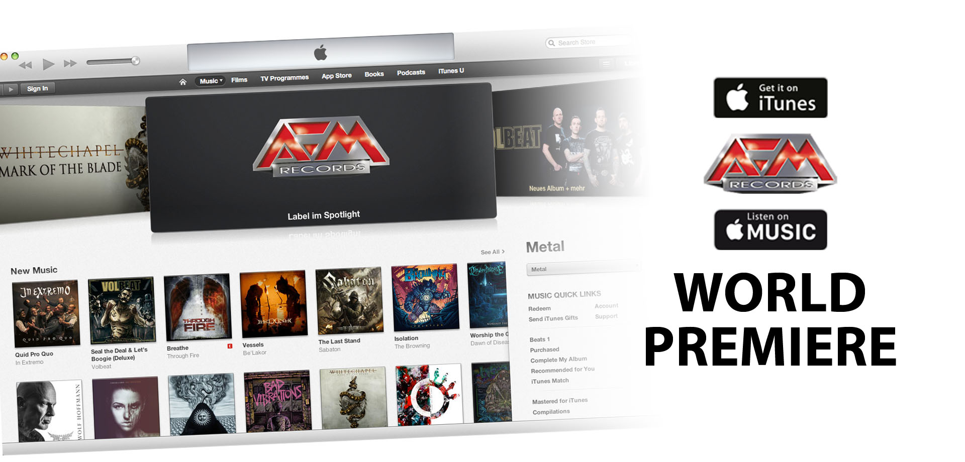 WORLD PREMIERE: AFM RECORDS & APPLE