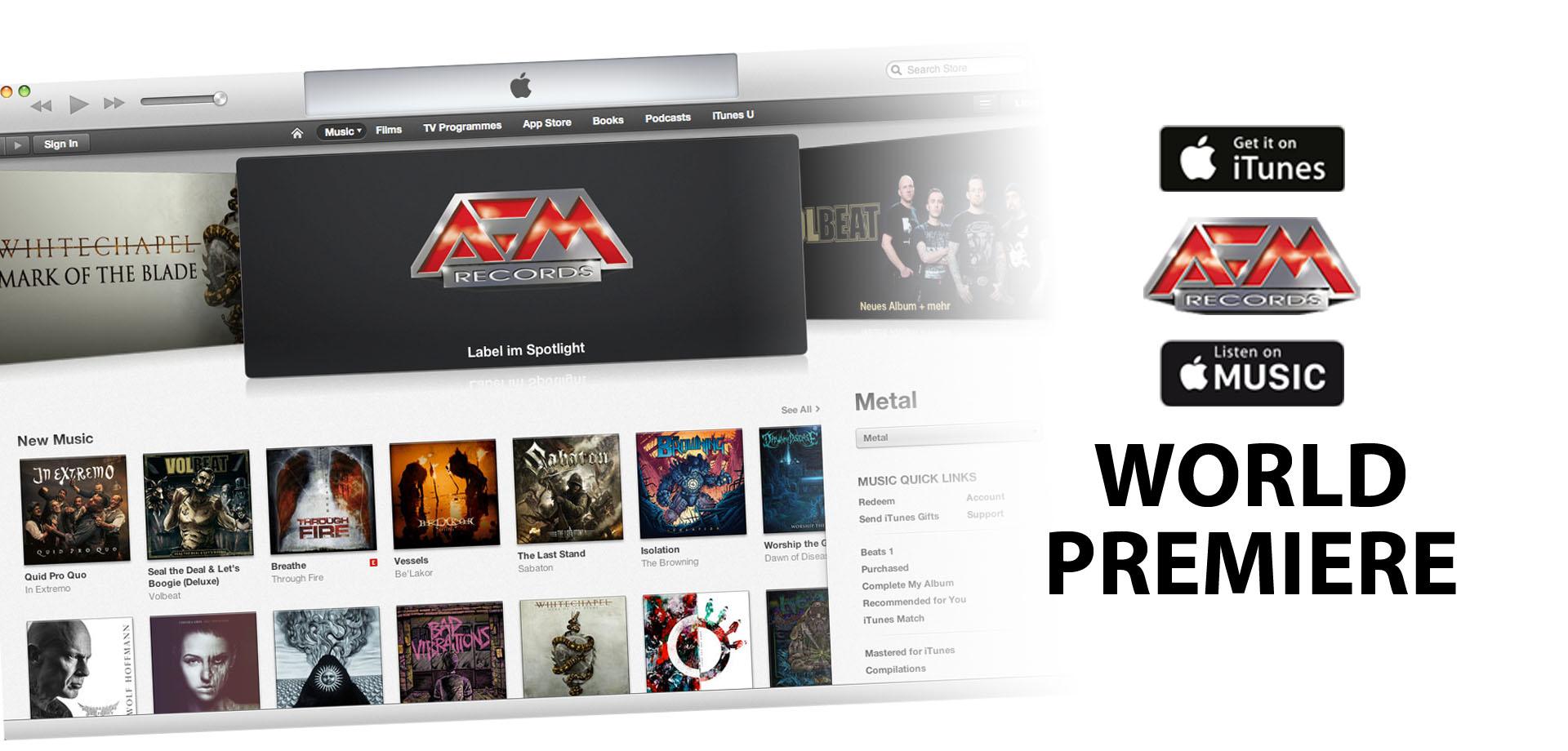 WORLD PREMIERE: AFM RECORDS & APPLE