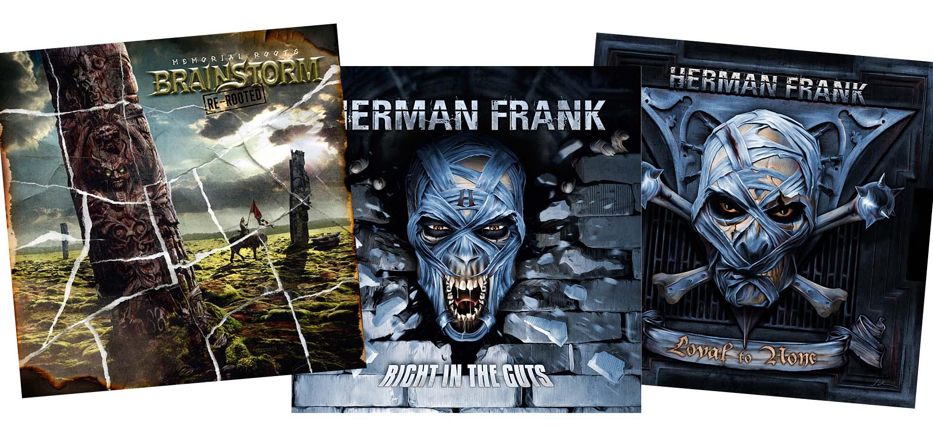 RE-RELEASES - Brainstorm & Herman Frank